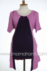 baju menyusui pendek bolero lipit pink  SD 183  large